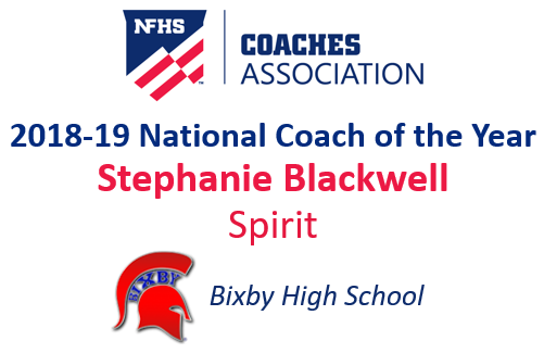 Stephanie Blackwell: National Spirit Coach of the Year (2018-19)